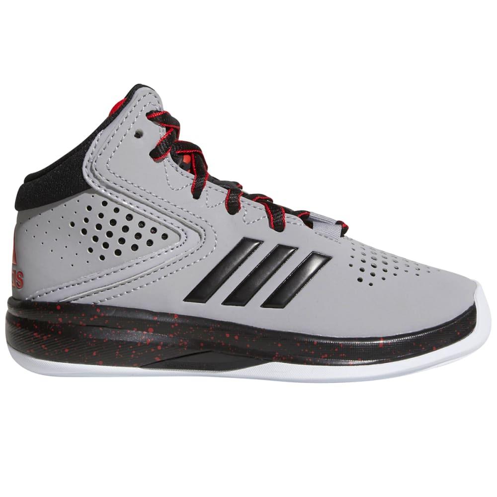 Adidas Boys Cross 'Em Up Basketball Shoes, Wide - Black, 2.5