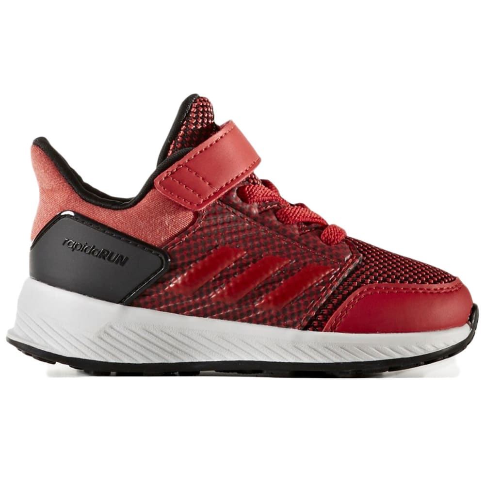 ADIDAS Toddler Boys' RapidaRun EL Shoes, Scarlet/Black - SCARLET