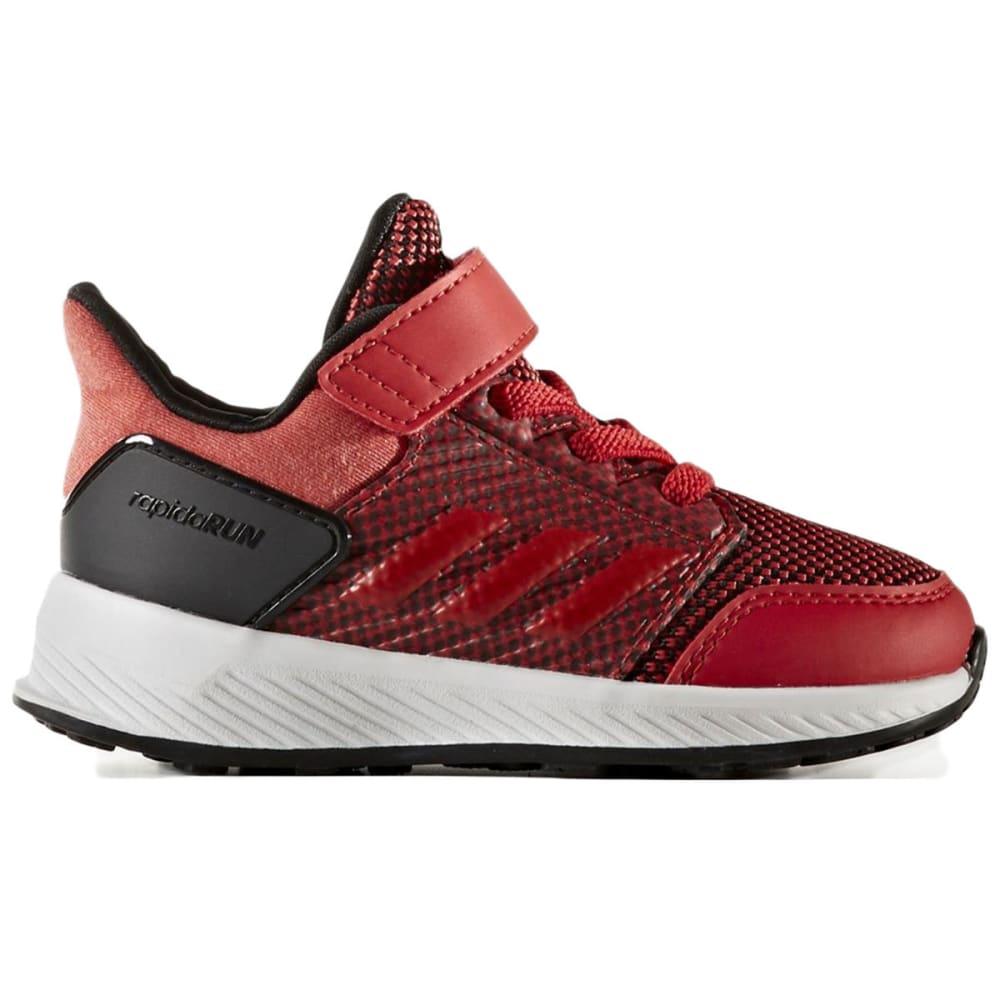 ADIDAS Toddler Boys' RapidaRun EL Shoes, Scarlet/Black - SCARLET