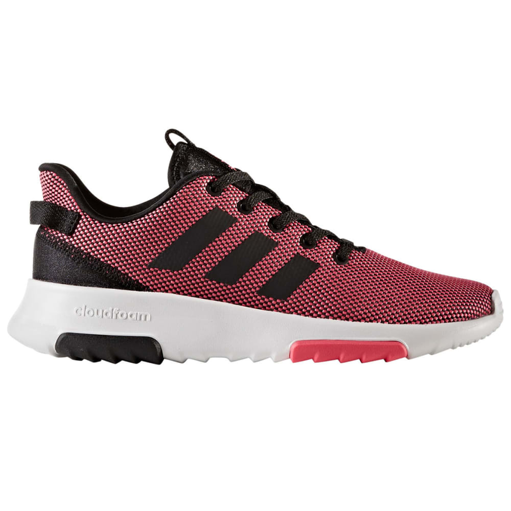 Adidas Big Girls Neo Cloudfoam Racer Tr Running Shoes, Pink/black/white