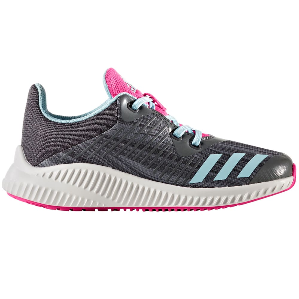 ADIDAS Girls' FortaRun K Running Shoes, Grey/Ice Blue 3.5
