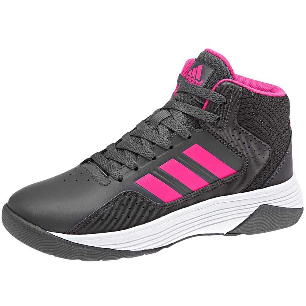 Adidas Big Girls Cloudfoam Ilation Mid Basketball Shoes - Black, 3.5