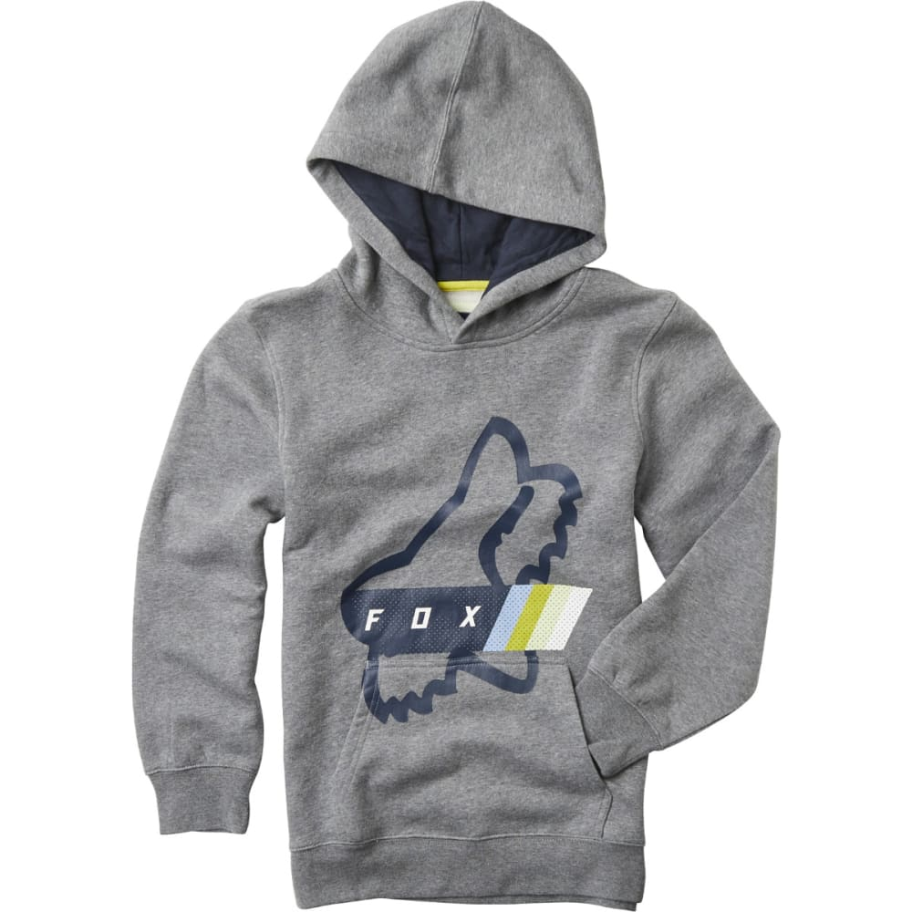 FOX Boys' Fourth Division Pullover Hoody - GREY/HTHER GRAPH-185