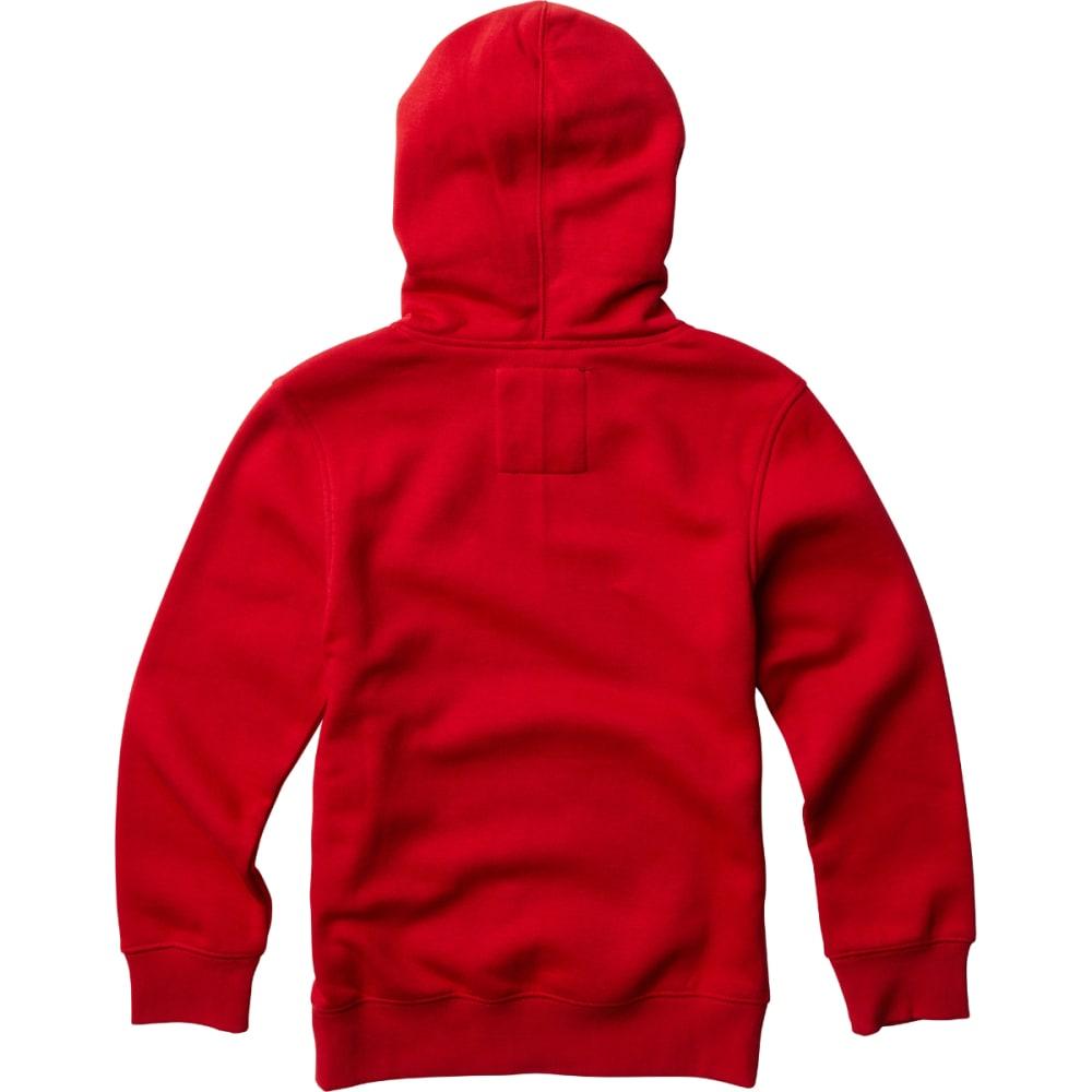 FOX RACING Big Boys' Traded Pullover Hoodie - MARN/DRK RED-208