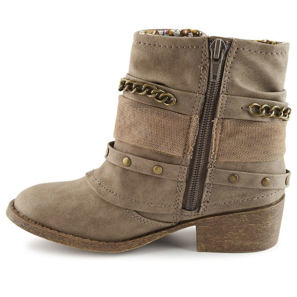 JELLYPOP Girls' Milenda Bow Ankle Booties, Stone Distressed - STONE