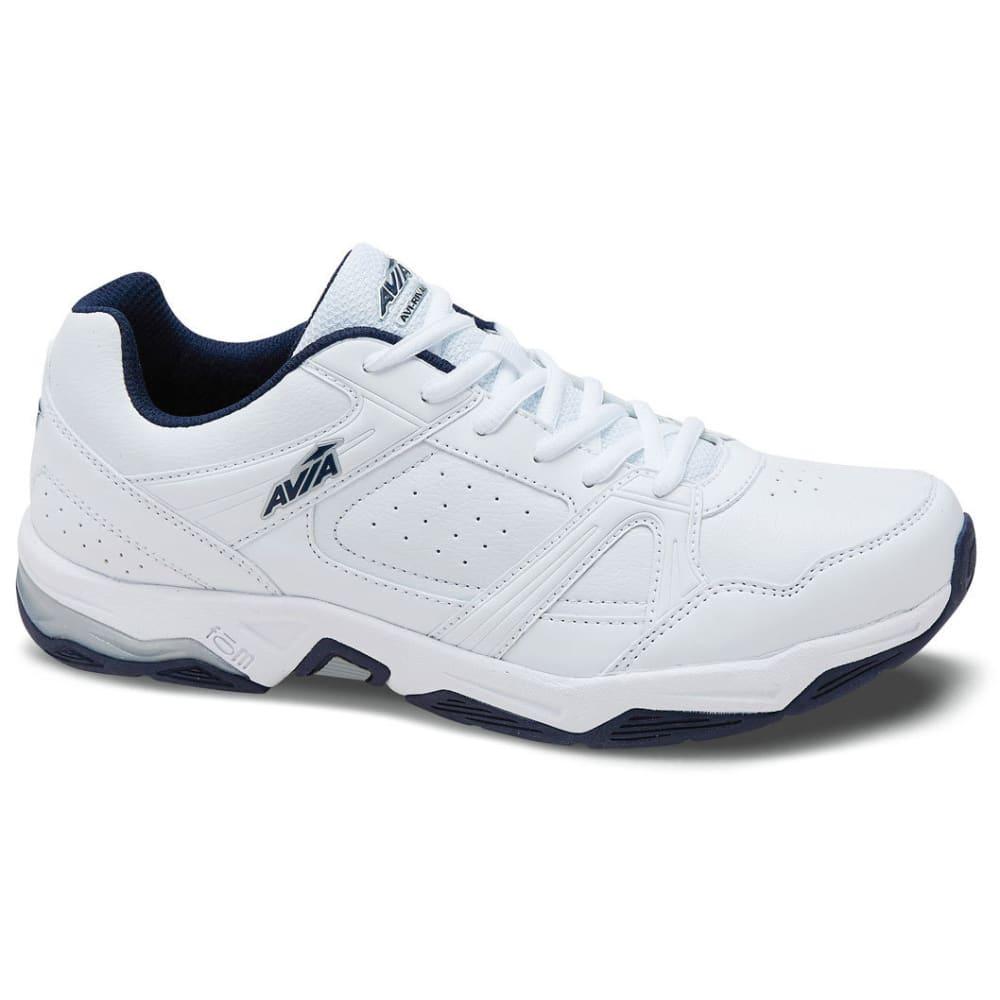 AVIA Men's Avi-Rival Walking Shoes, White/True Navy/Chrome Silver - WHITE
