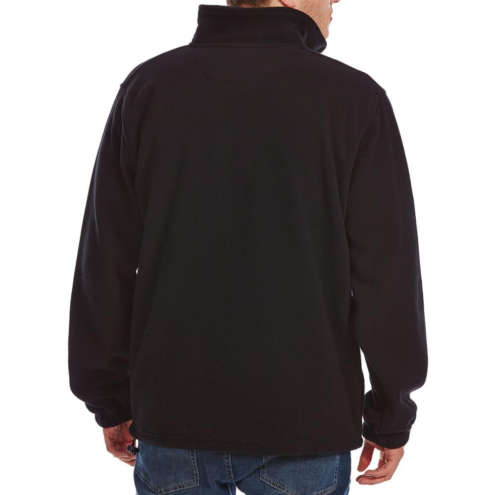 RUGGED TRAILS Men's ¼ Zip Storm Fleece - BLACK