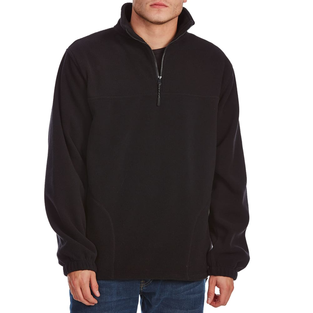 RUGGED TRAILS Men's ¼ Zip Storm Fleece - BLACK