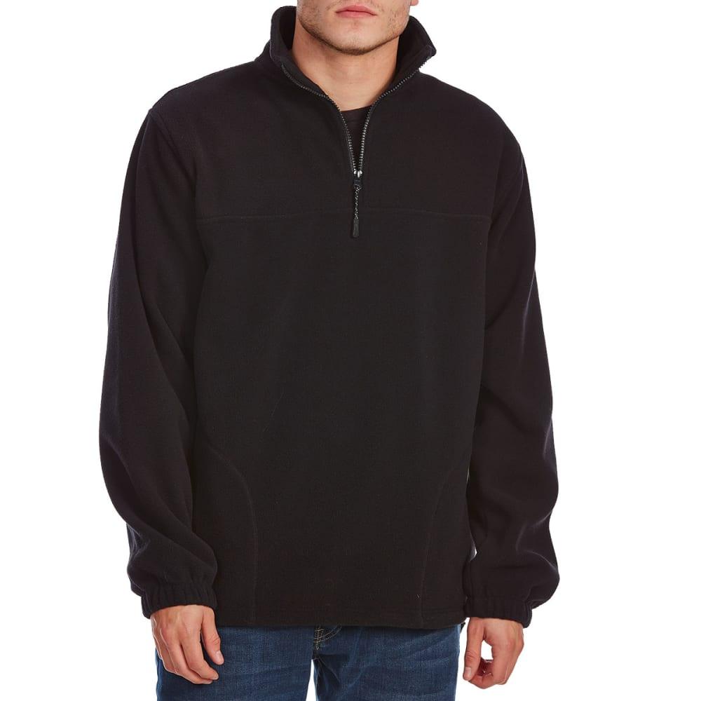 RUGGED TRAILS Men's 1/4 Zip Storm Fleece - BLACK