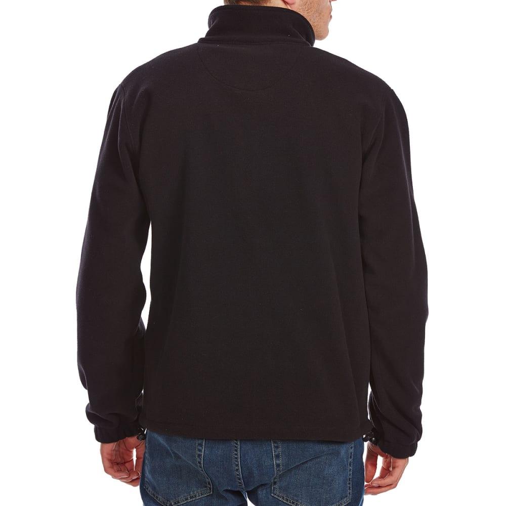 RUGGED TRAILS Men's Storm Fleece Full-Zip Jacket - BLACK