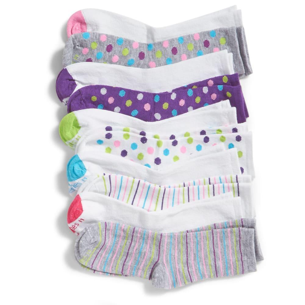 HANES Big Girls' Crew Socks, 10 Pack - ASSORTED