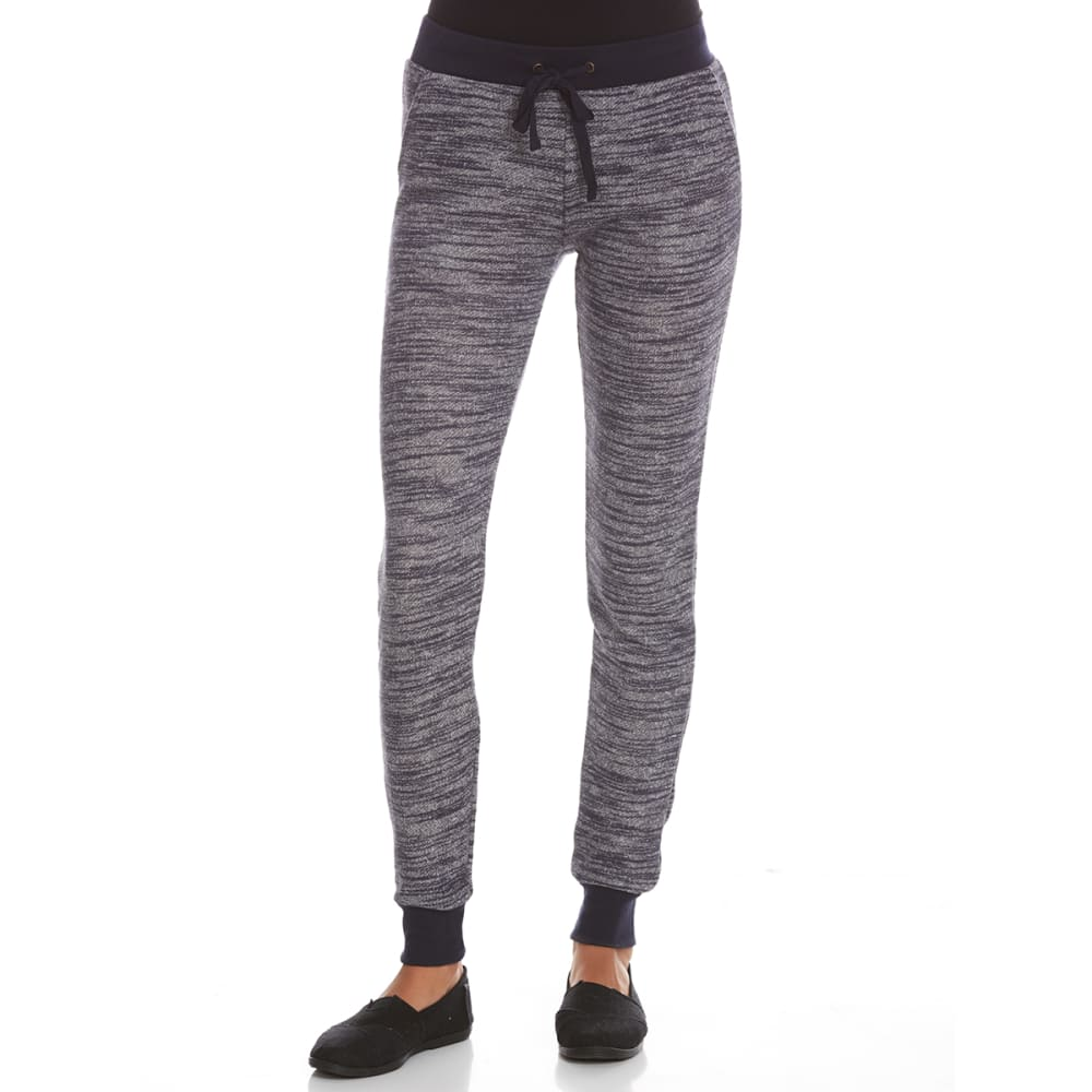 POOF Juniors' Space-Dye Sweater Knit Jogger Pants - NIGHT SKY