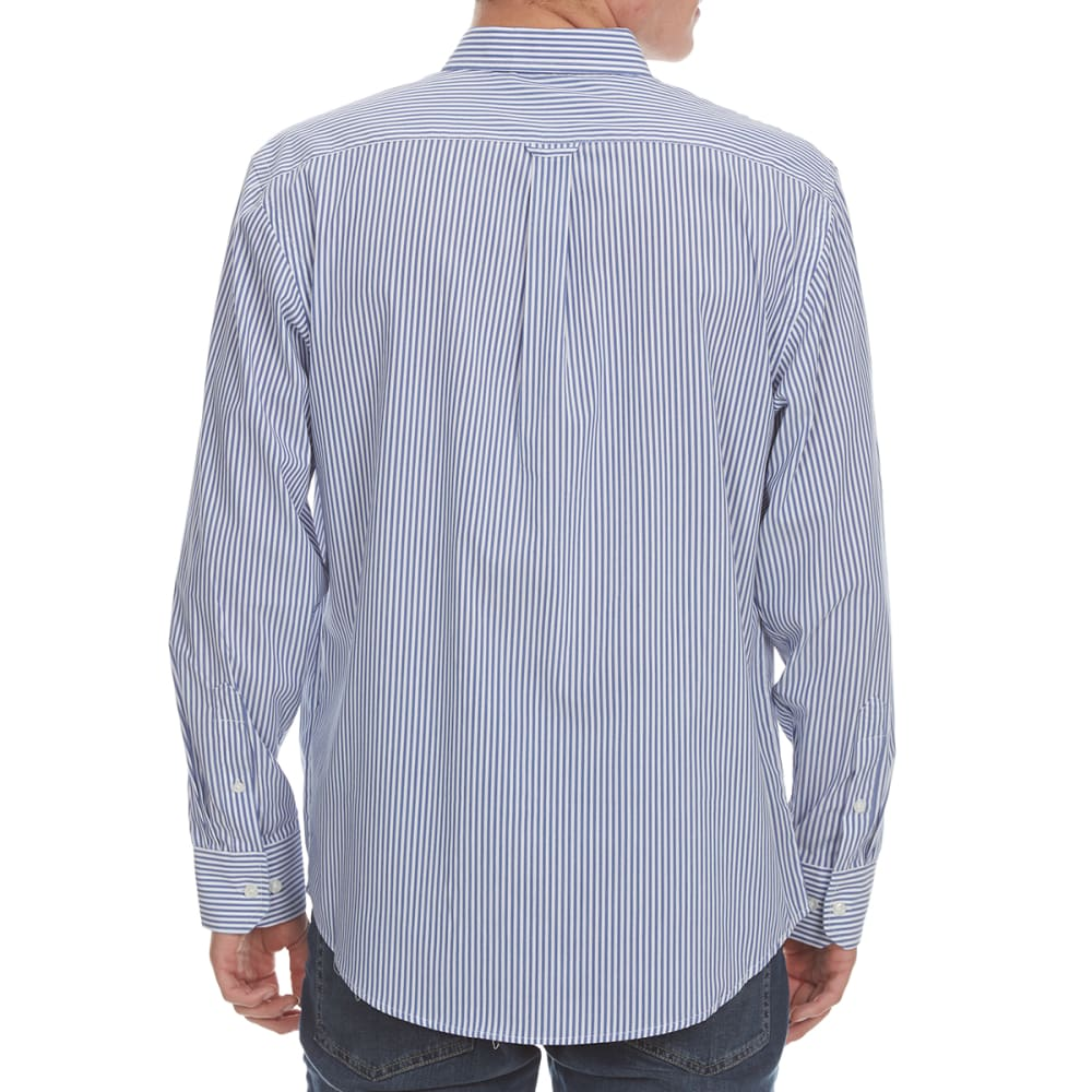 IZOD Men's Advantage Performance Stretch Stripe Long-Sleeve Shirt - MAZARINE BLU-494