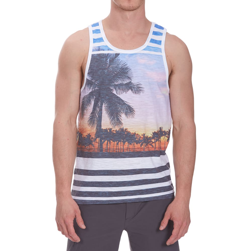 DISTORTION Guys' Tropical Tank - HARBOR BLUE