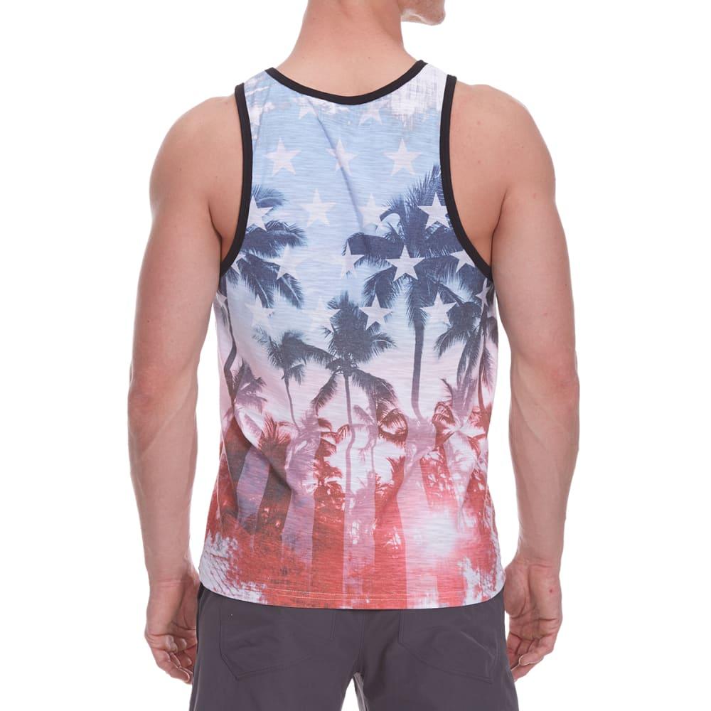 DISTORTION Guys' Americana Tank Top - WASHED INDIGO