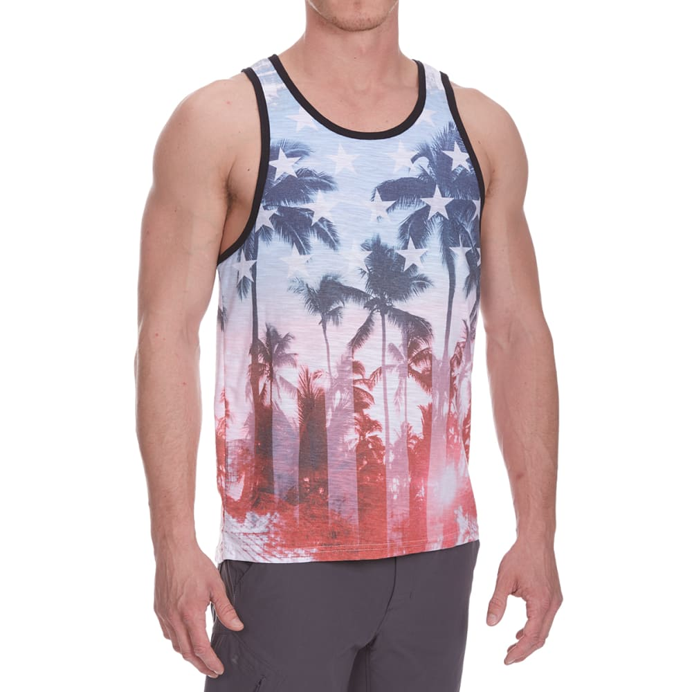 Distortion Guys Americana Tank Top - Blue, S
