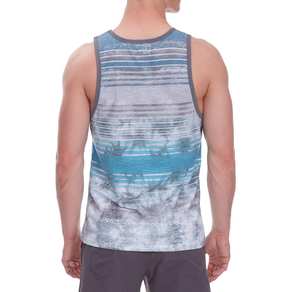 DISTORTION Guys' Tie-Dye Pocket Tank Top - TEAL TROPIC