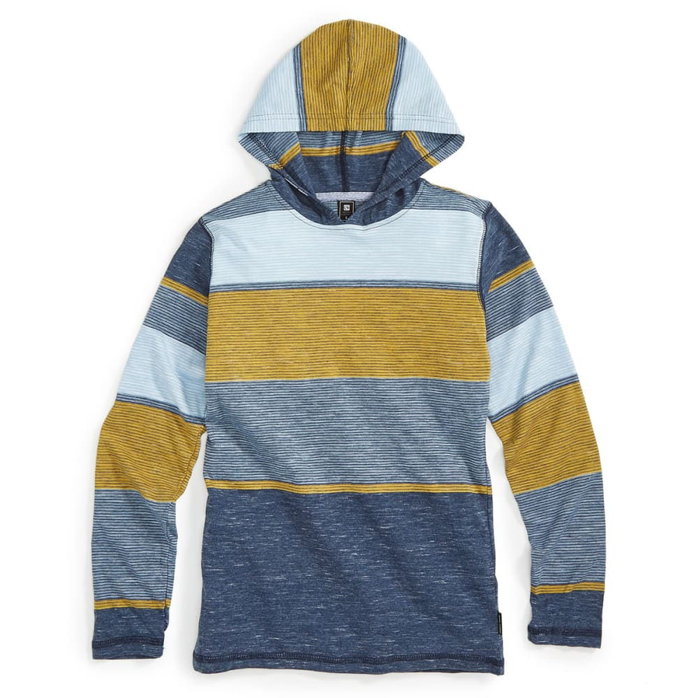 OCEAN CURRENT Boys' Pseudo Stripe Long-Sleeve Popover - DARK BLUE/INDIGO