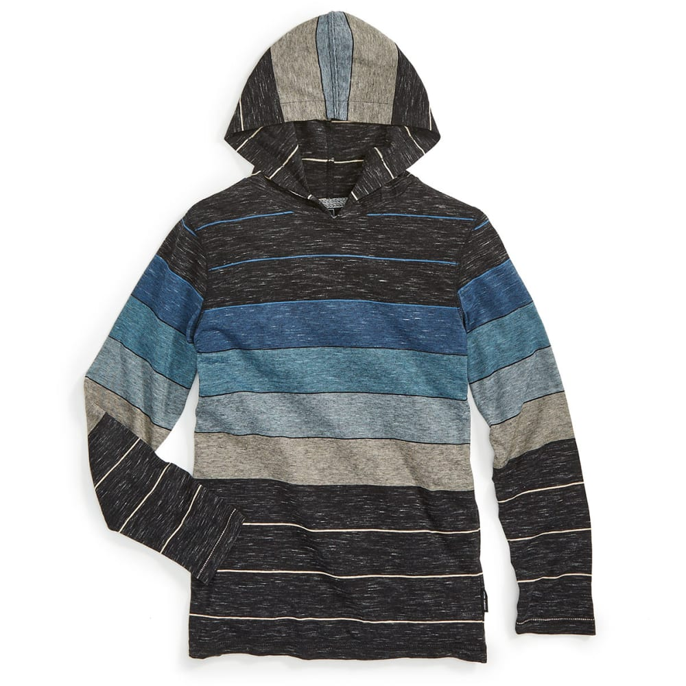 OCEAN CURRENT Boys' Keen Stripe Long-Sleeve Popover - TEAL/NEWPORT