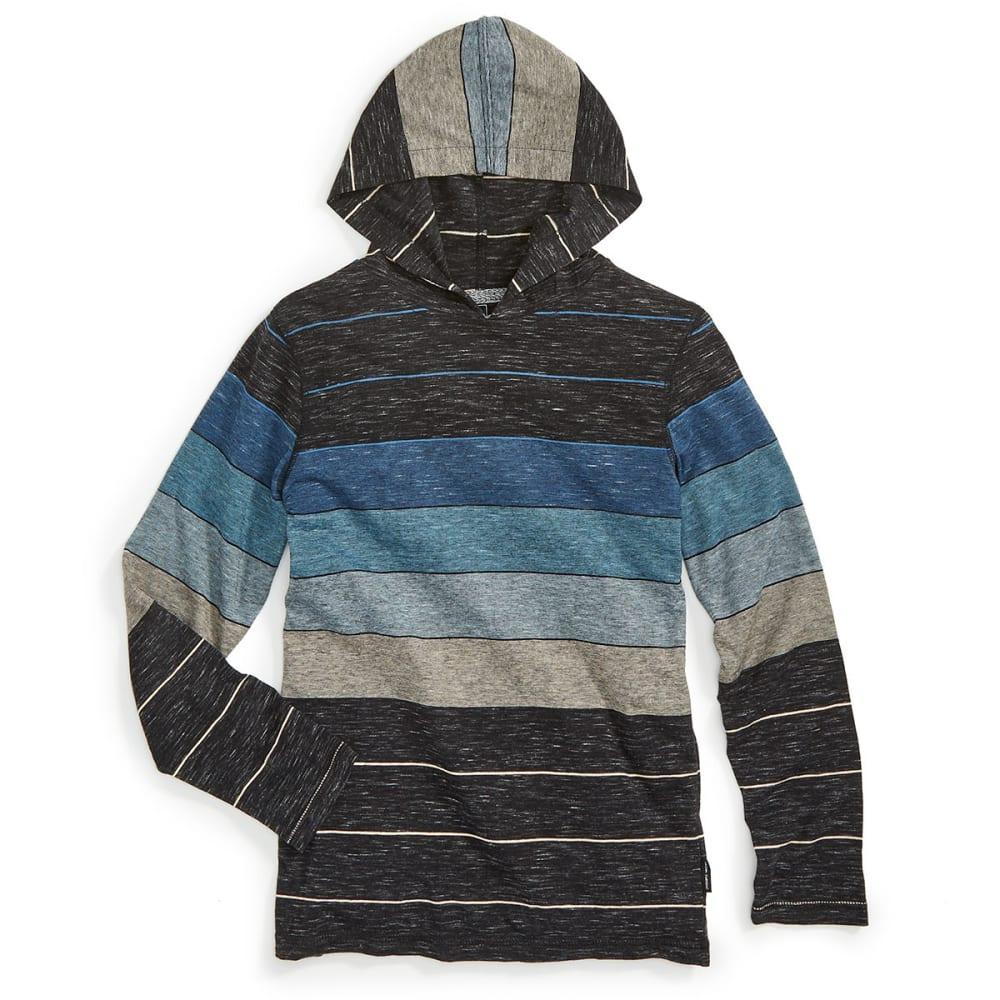 OCEAN CURRENT Boys' Keen Stripe Long-Sleeve Popover - TEAL/NEWPORT