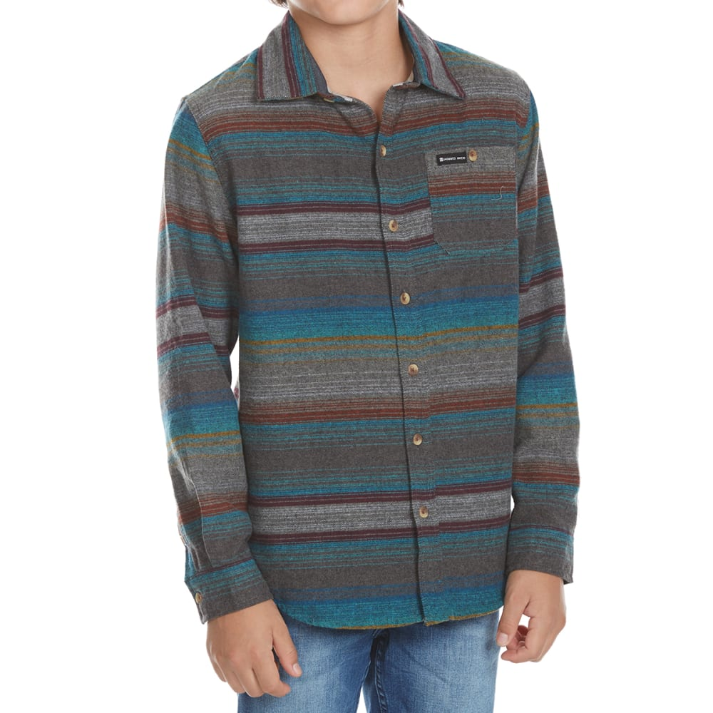OCEAN CURRENT Boys' Hammock Stripe Flannel Long-Sleeve Shirt - MULTI