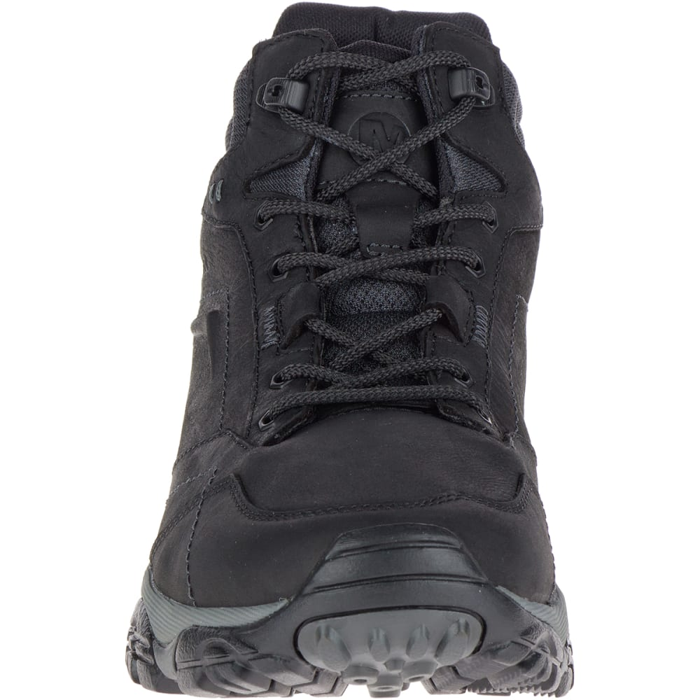 MERRELL Men's Moab Adventure Mid Waterproof Hiking Boots, Black - BLACK