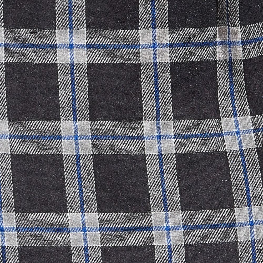 EMS Flannel Pajama Pants - 355-1 BLK/GRY/BLUPLD