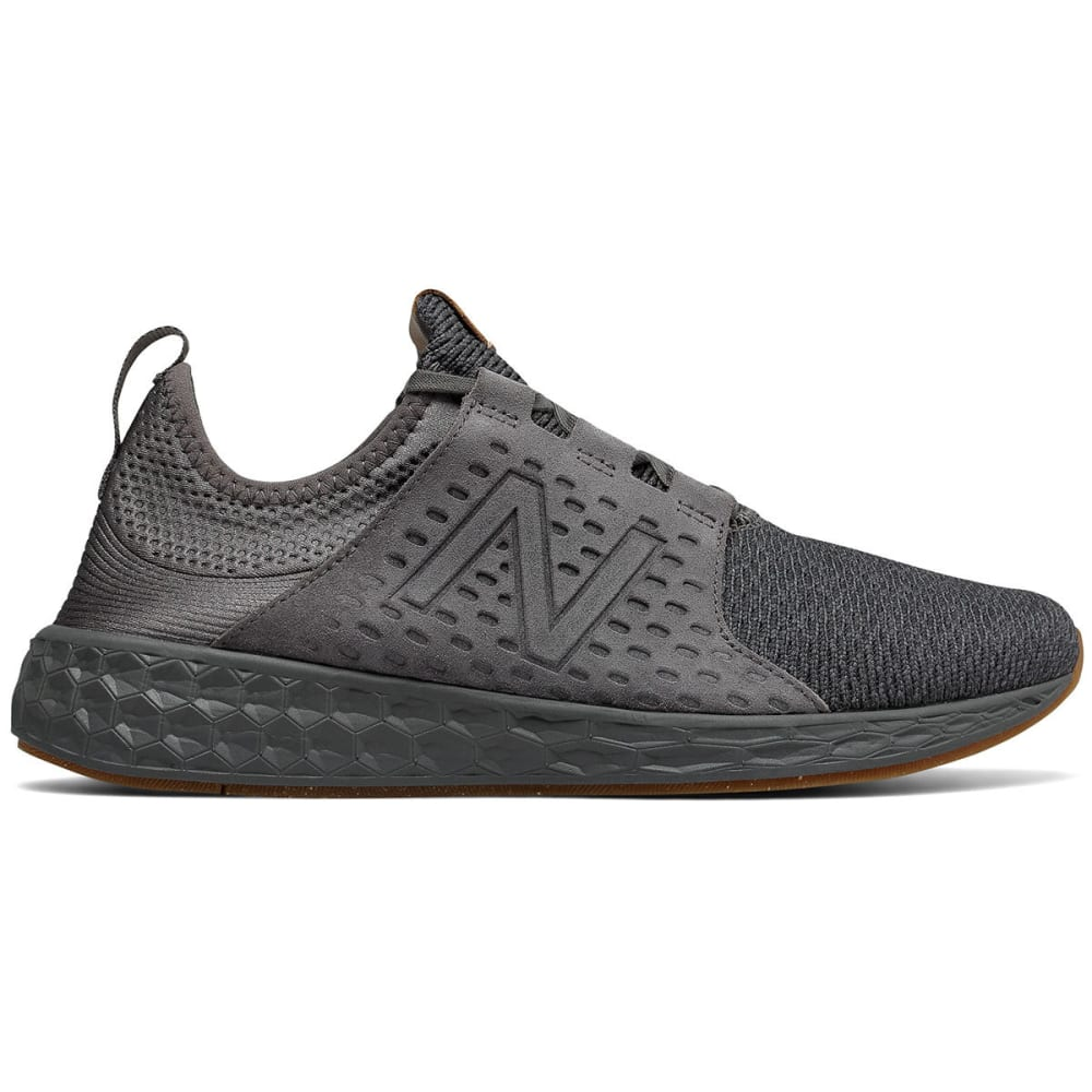 New Balance Men's Fresh Foam Cruz V1 Running Shoes, Castlerock/phantom - Black, 10.5