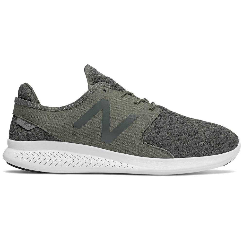 New Balance Men's Fuelcore Coast V3 Running Shoes, Military Foliage Green/black