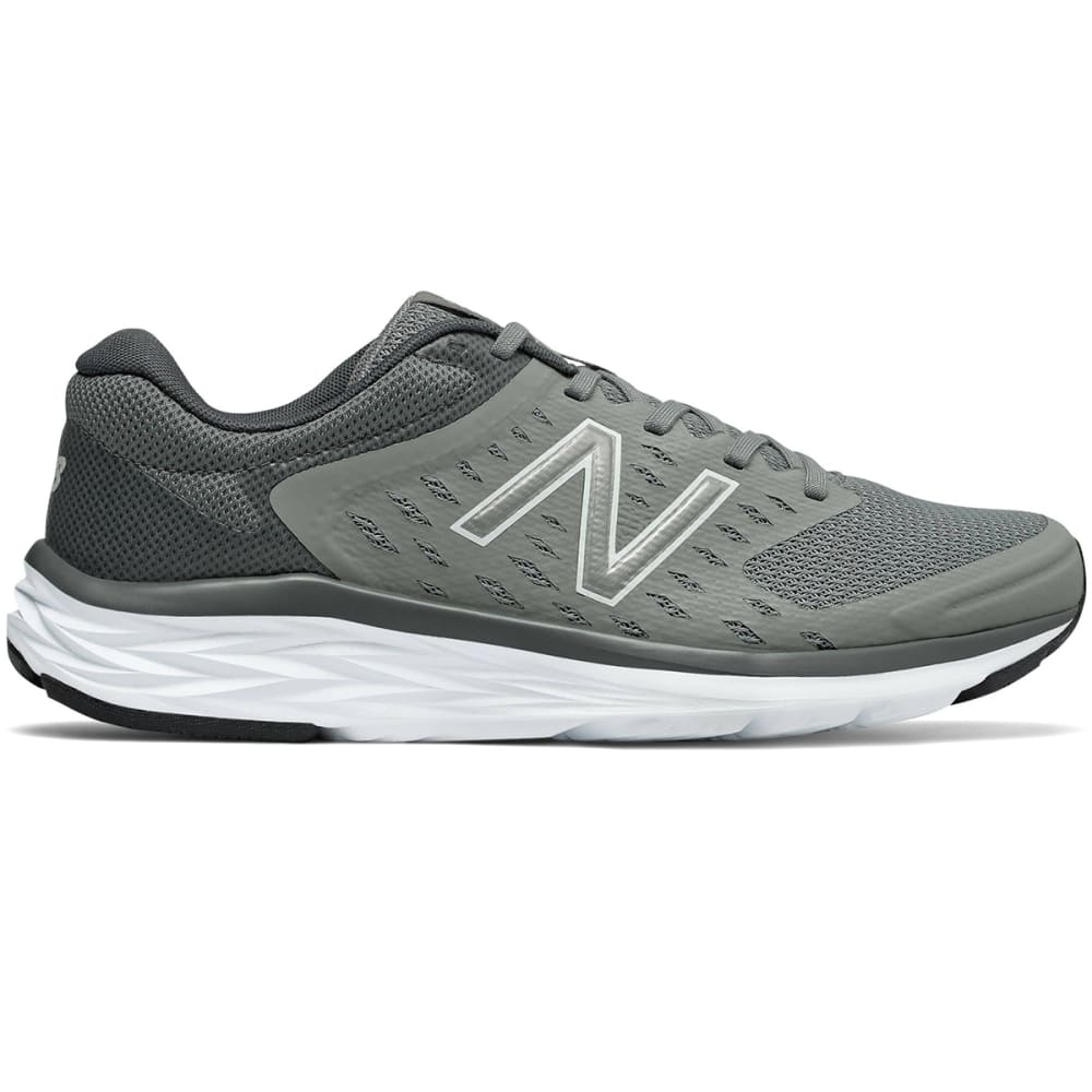 NEW BALANCE Men's 490v5 Running Shoes, Team Away Grey/Gunmetal Black - GREY