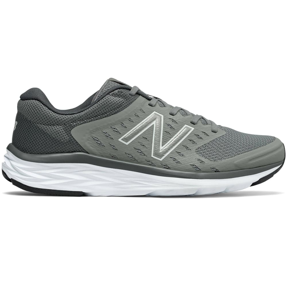 NEW BALANCE Men's 490v5 Running Shoes, Team Away Grey/Gunmetal Black, Wide - GREY