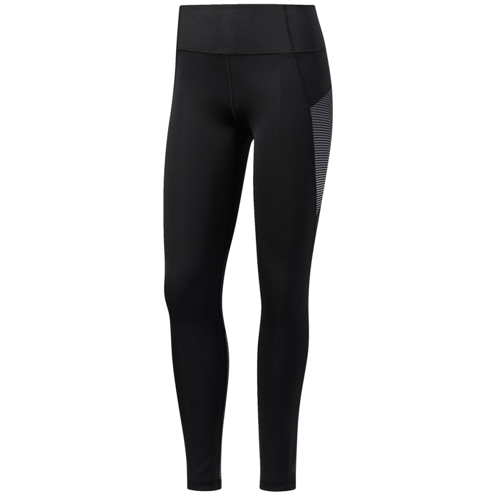 Adidas Women's D2M Shine Stripe Long Tights - Black, S