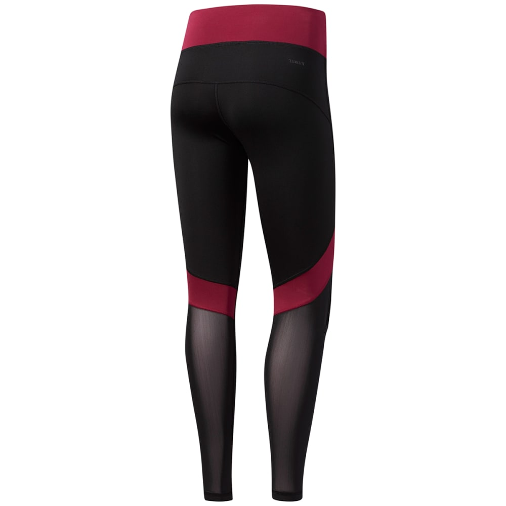 ADIDAS Women's D2M Mix Long Tights - BLK/ RUBY-CD0986
