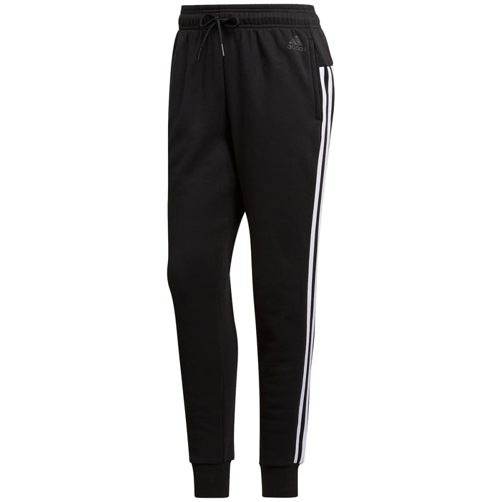 Adidas Women's Essentials Fleece 3 Stripes Jogger Pants - Black, M