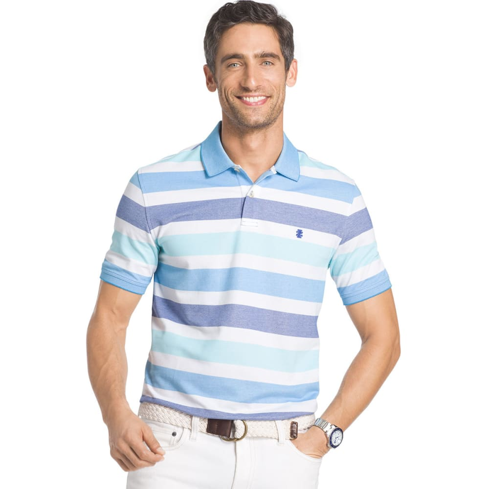 IZOD Men's Advantage Stripe Polo - MAZARINE BLUE - 494