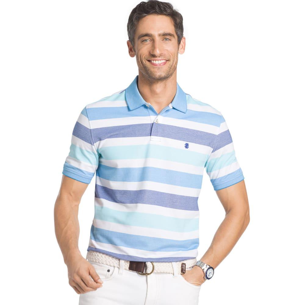 IZOD Men's Advantage Stripe Polo - MAZARINE BLUE - 494