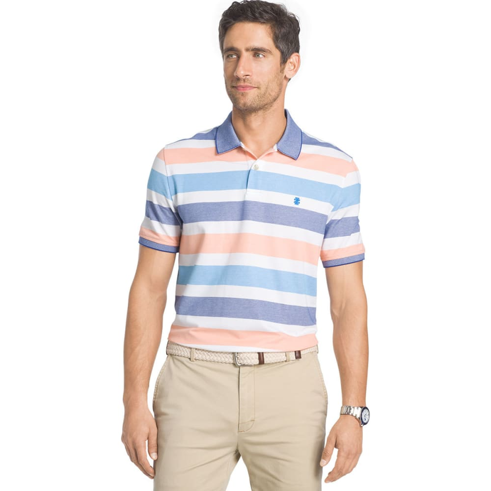 IZOD Men's Advantage Stripe Polo - BLITHE - 437