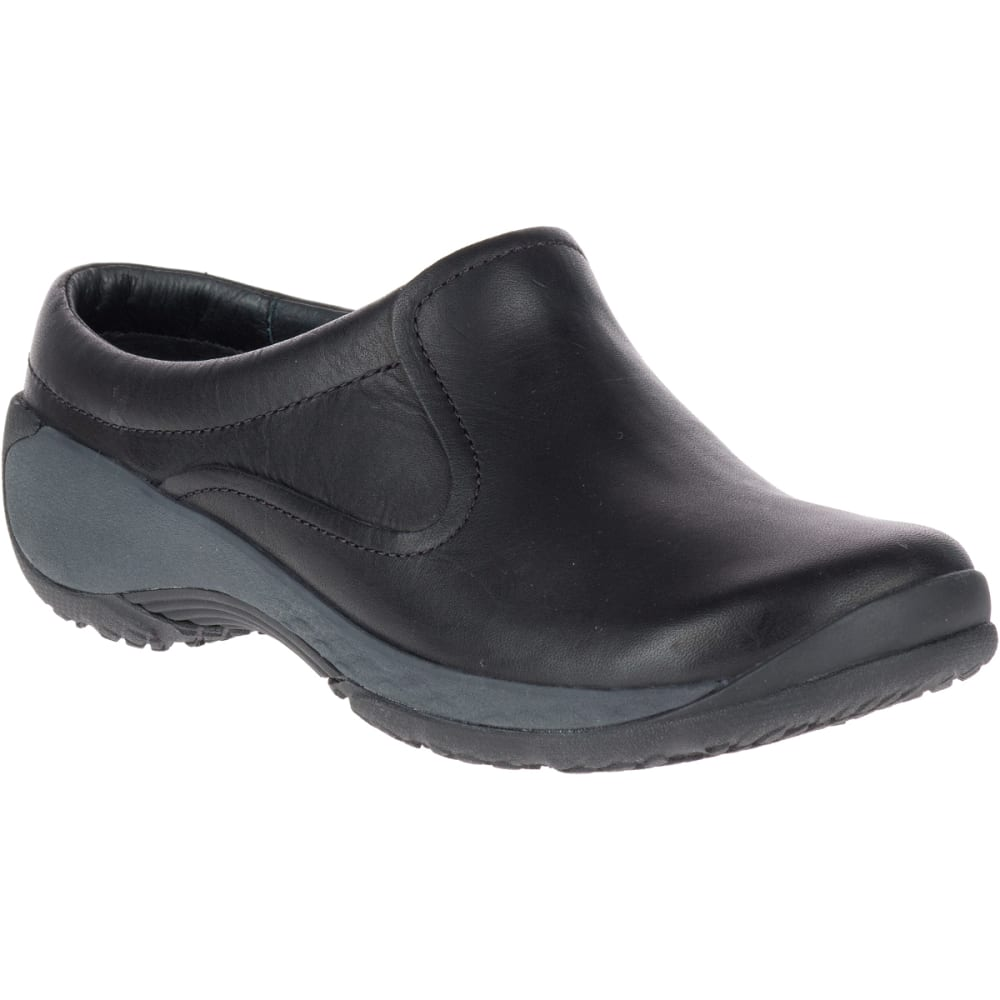 MERRELL Women's Encore Q2 Slide Leather Shoes, Black - BLACK