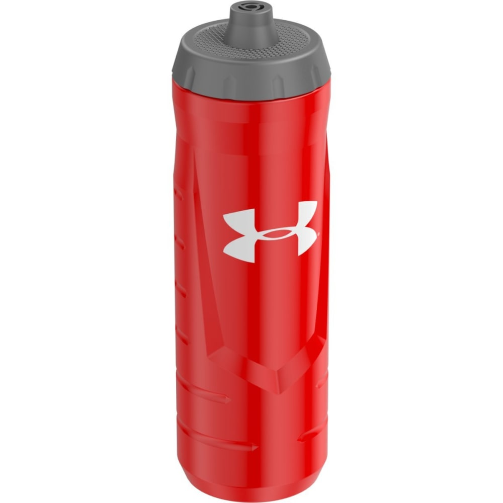 UNDER ARMOUR Undeniable 32 Oz. Squeezable Bottle With Quick Shot Lid - RED
