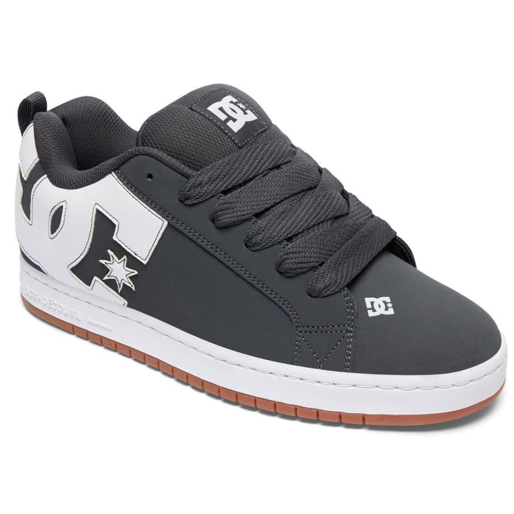 DC Guys' Court Graffik Skate Shoes, Grey/Gum - GREY
