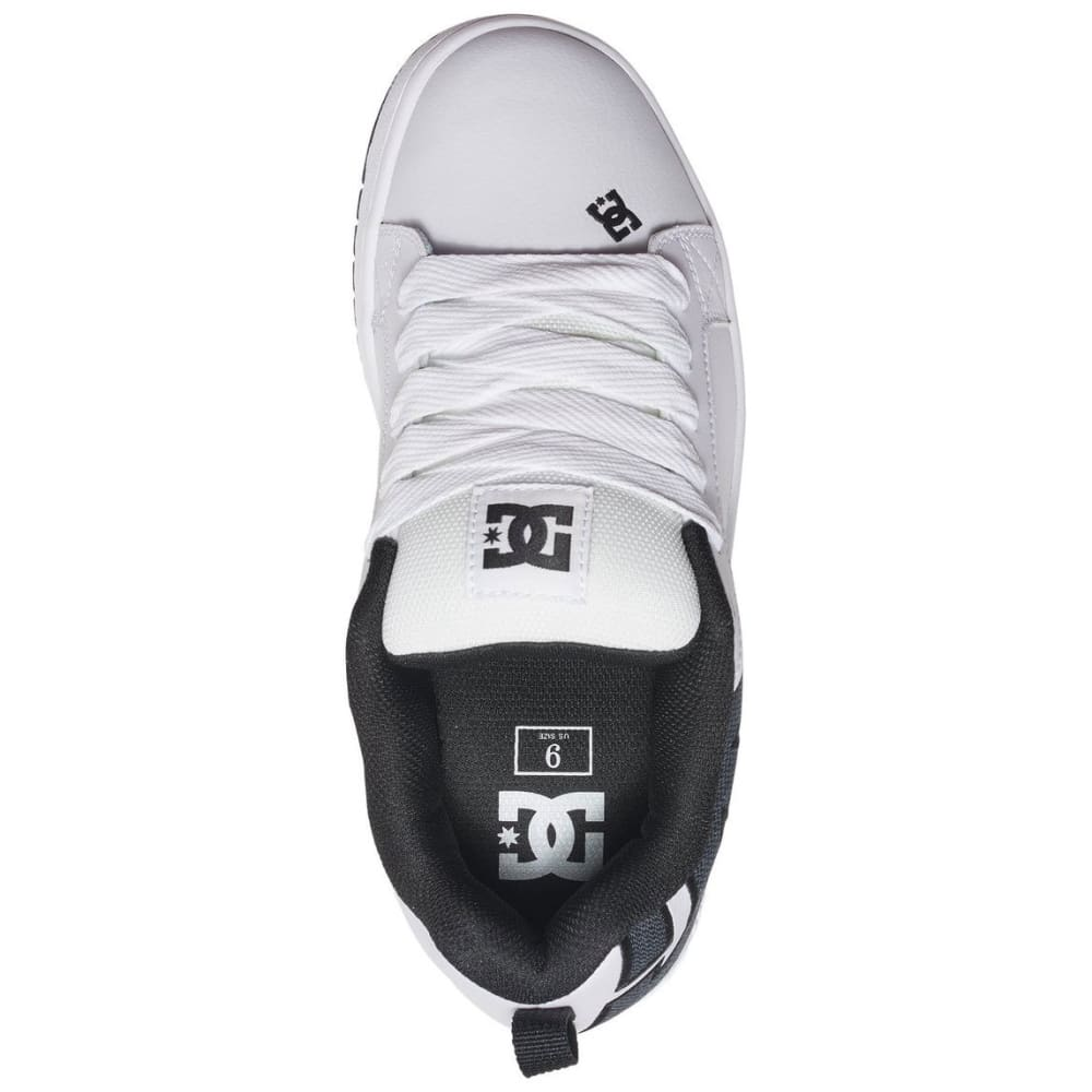 DC Guys' Court Graffik SE Skate Shoes, White/Grey - WHITE