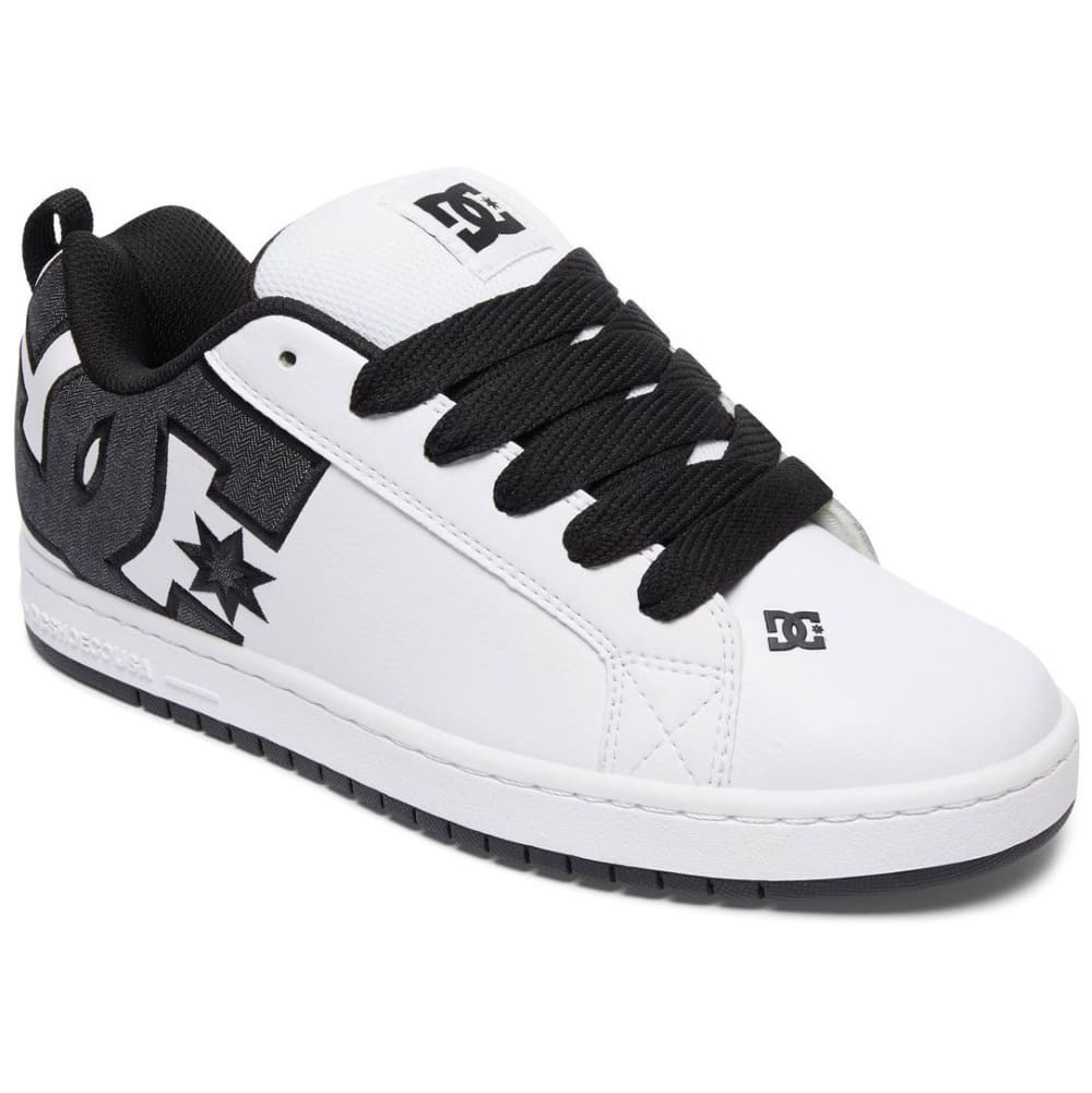 DC Men's Court Graffik SE Skate Shoes, White/Dark Denim