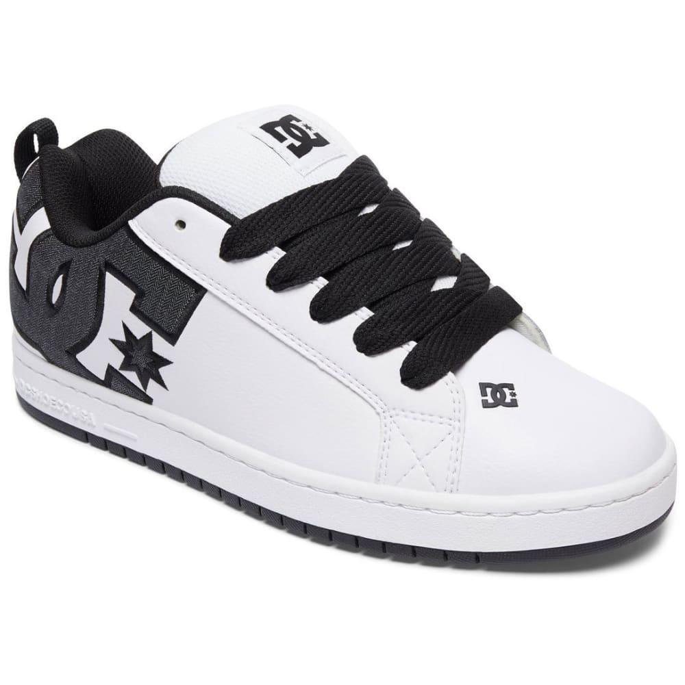 DC Men's Court Graffik SE Skate Shoes, White/Dark Denim - WHITE