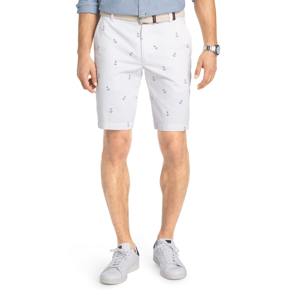 IZOD Men's Schiffli Anchor Printed Shorts - BRIGHT WHT-116