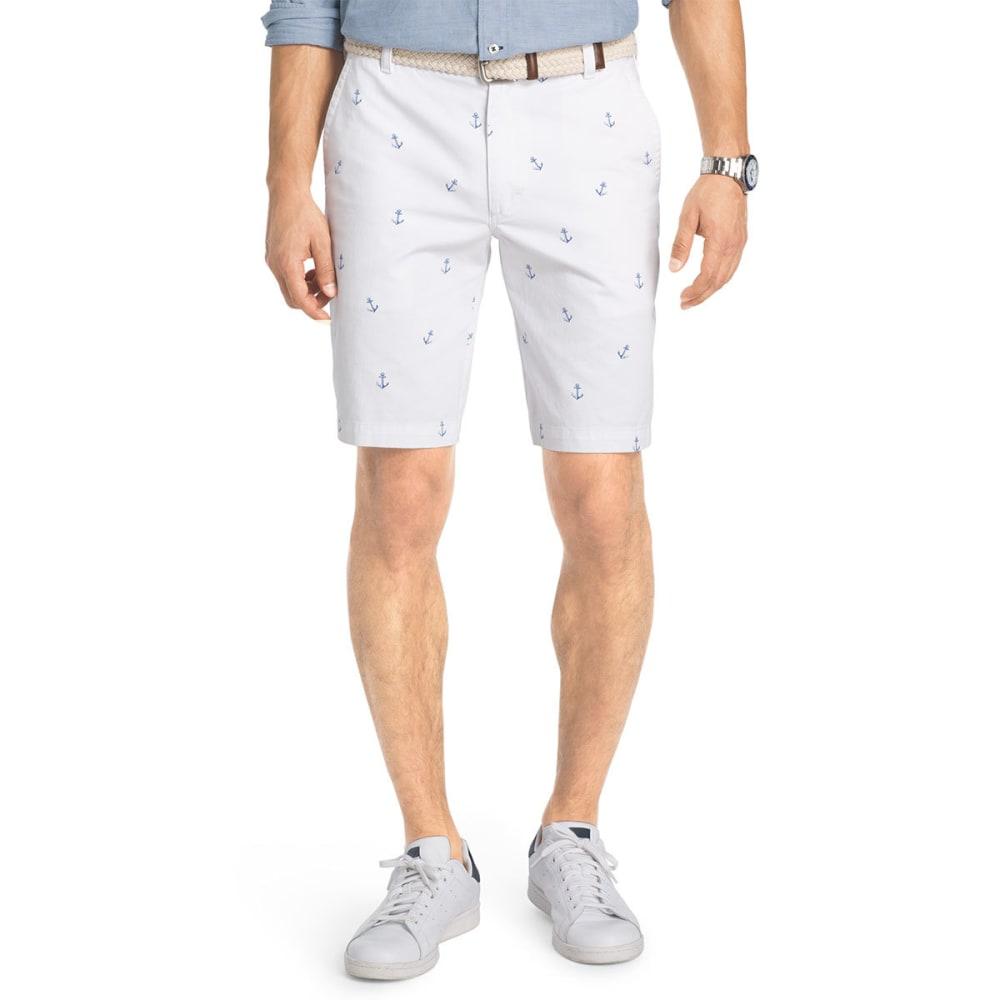 IZOD Men's Schiffli Anchor Printed Shorts - BRIGHT WHT-116