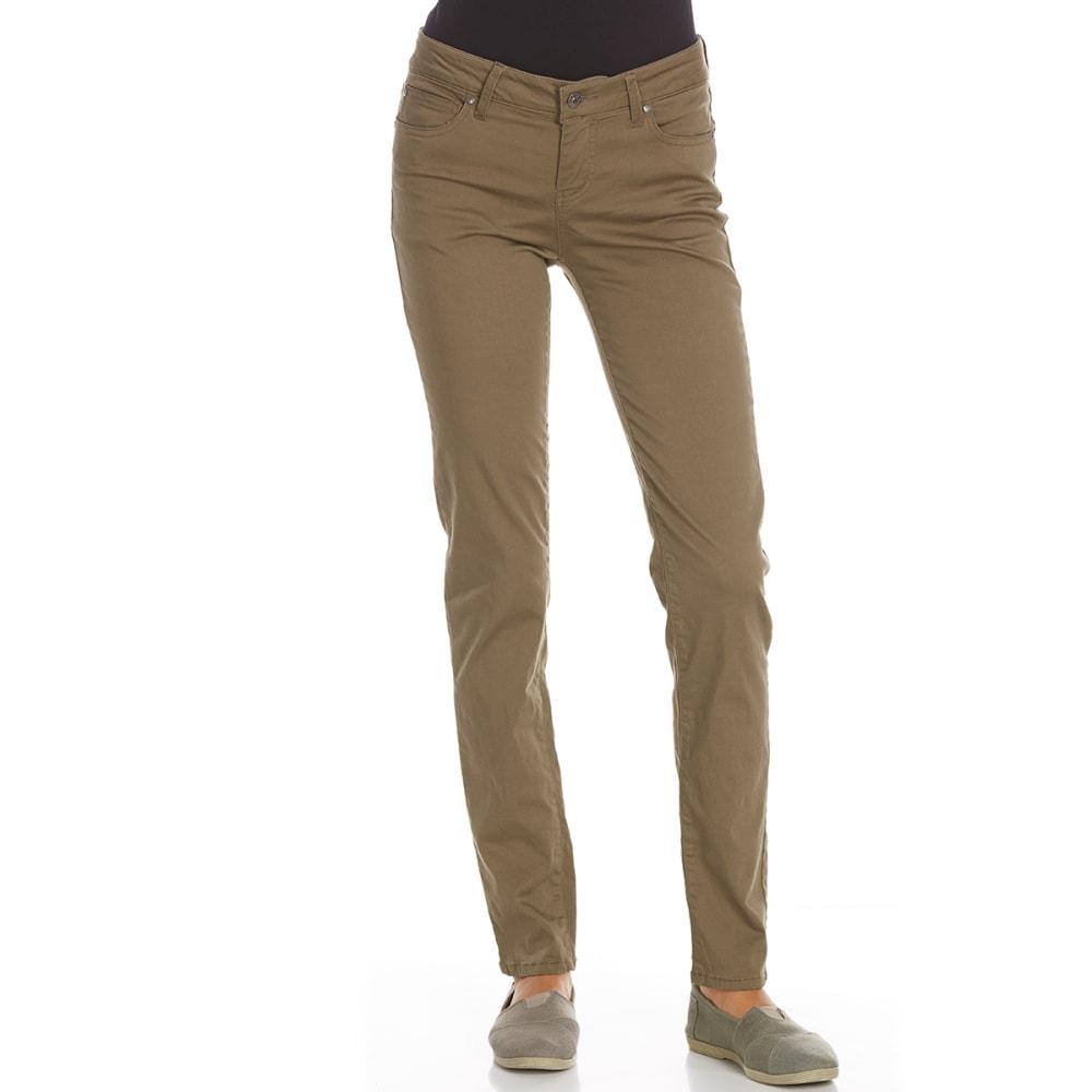 CELEBRITY PINK Juniors' Skinny Super-Soft Colored Denim Jeans - DUSKY GREEN