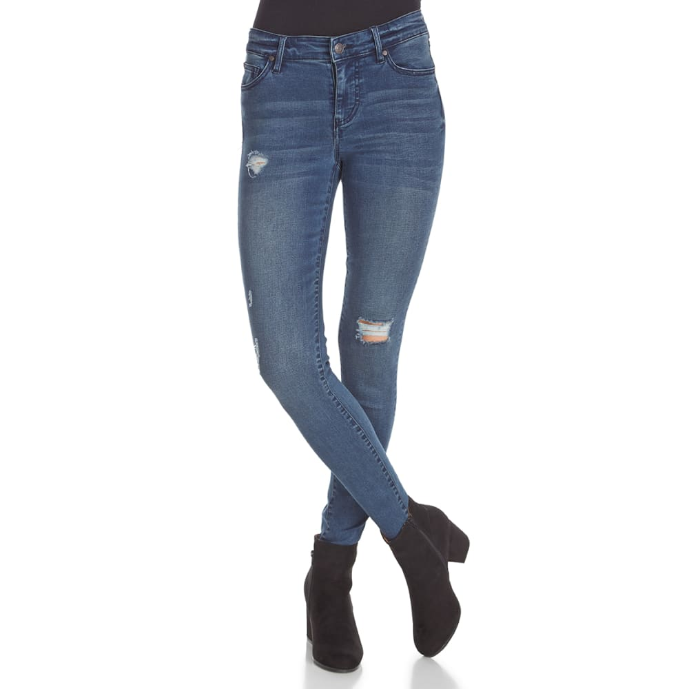 CELEBRITY PINK Juniors' High-Waist Light Destruction Skinny Jeans - CHEVY