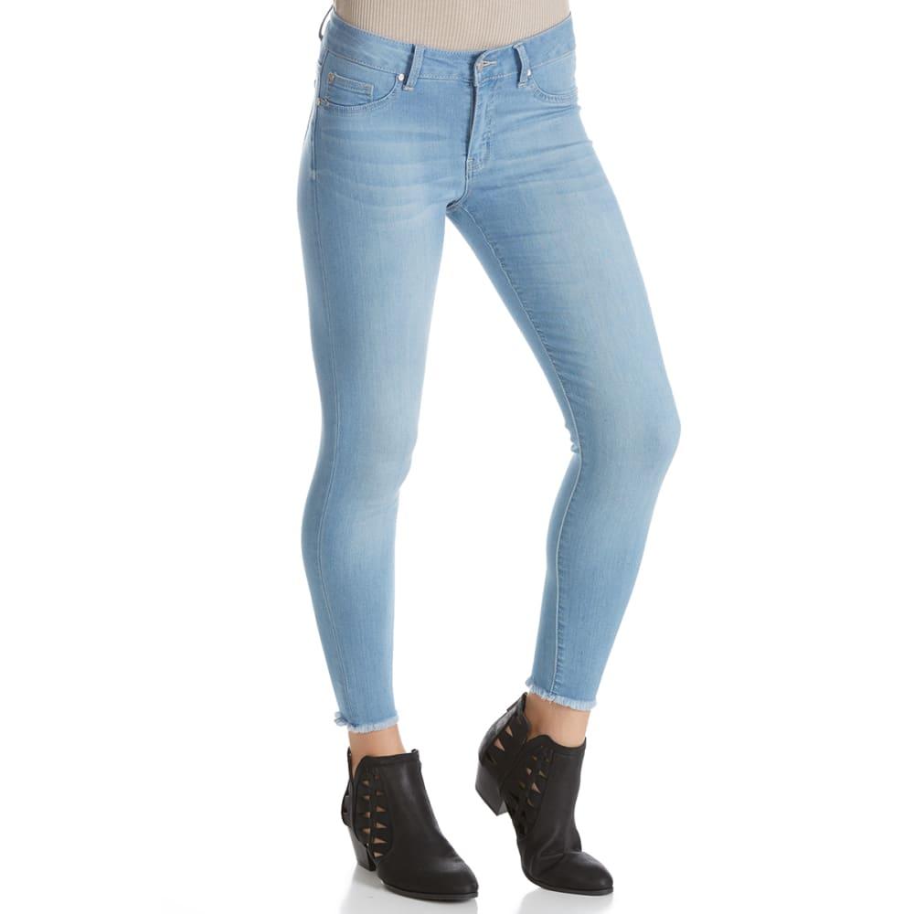 CELEBRITY PINK Juniors' Frayed Hem Destructed Knee Skinny Jeans - H18-RUE LA LA