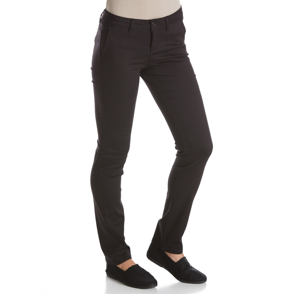 CELEBRITY PINK Juniors' Smart Trouser Uniform Pants - BLACK