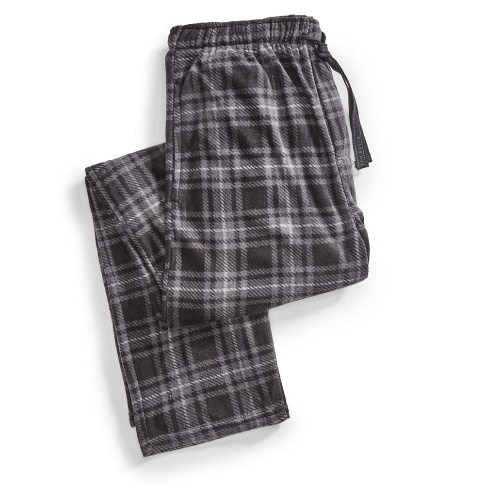 Men's Mountain Pattern Microfleece Lounge Pants - BLACK 962